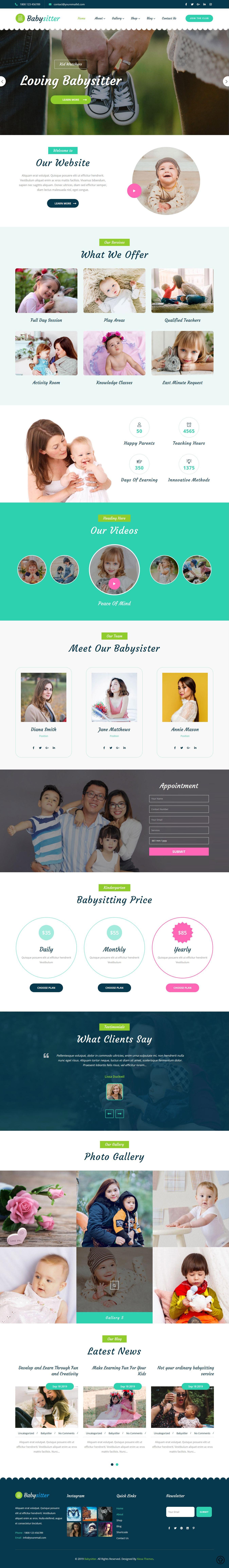 Babysitter WordPress Theme